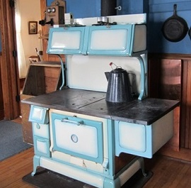 The Stove Is A Model 8 20D Riverside, Blue Porcelain, Manufactured By Rock  Island Stove Company, Rock Island, Illinois. It Feasure A Hot Water  Reservoir On ...