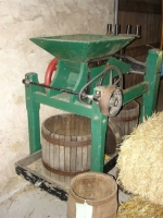 Cider press donated by Loury Huesmann